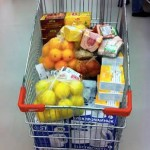 Cart with goods
